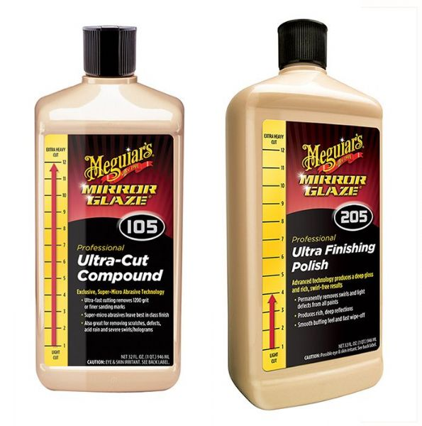 Meguiars 105 & 205 Ultra Finish and Cut Compounds 32oz